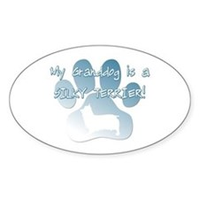 Silky Terrier Granddog Oval Decal