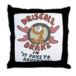 Retro Advertising Throw Pillow