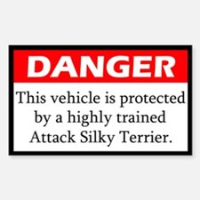 Attack Silky Terrier Decal