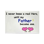 FATHER HERO Rectangle Magnet (100 pack)