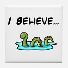 I Believe in the Loch Ness Mo Tile Coaster