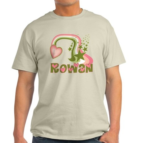 Rainbows & Stars Rowan Personalized Light T-Shirt