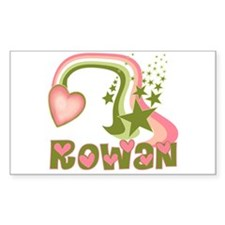 Rainbows & Stars Rowan Personalized Decal