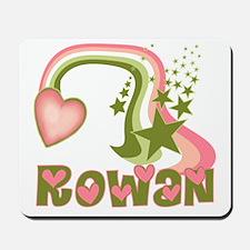 Rainbows & Stars Rowan Personalized Mousepad