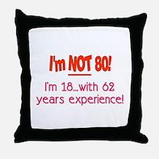 Unique 80th Throw Pillow