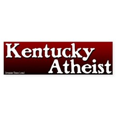 Kentucky Atheist Bumper Bumper Sticker