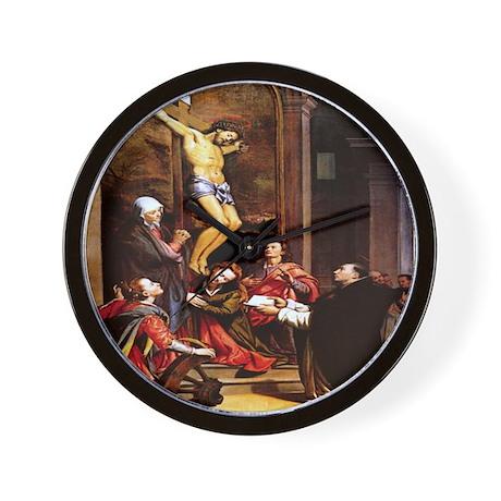 001-CRUCIFIXION Wall Clock