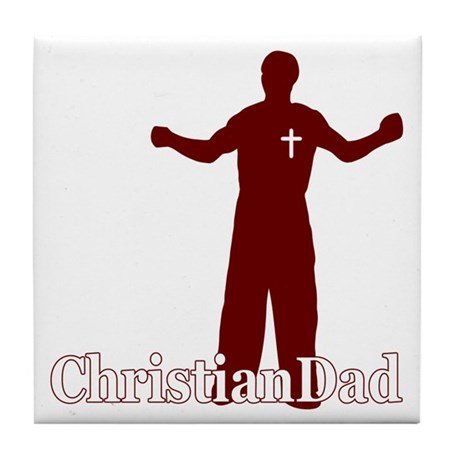 Christian Dad Father's Day Tile Coaster