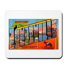 Louisville Kentucky Greetings Mousepad