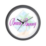 Beach Bunny Wall Clock
