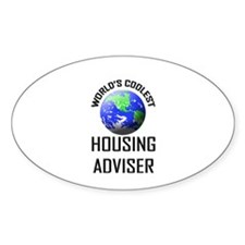 World's Coolest HOUSING ADVISER Oval Decal