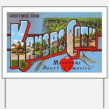 Kansas City Missouri Greetings Yard Sign
