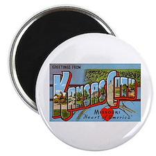 Kansas City Missouri Greetings Magnet