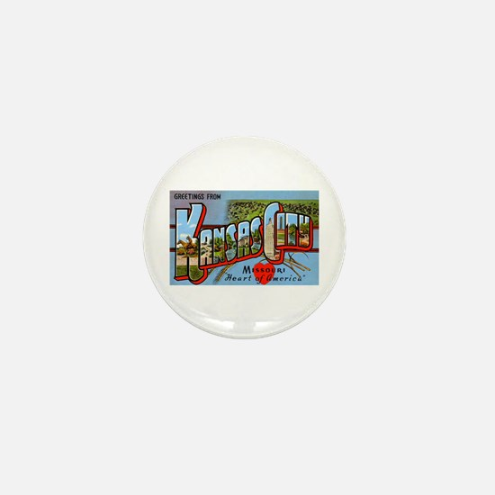 Kansas City Missouri Greetings Mini Button