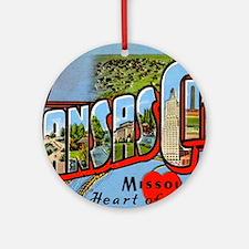 Kansas City Missouri Greetings Ornament (Round)