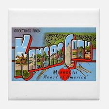 Kansas City Missouri Greetings Tile Coaster