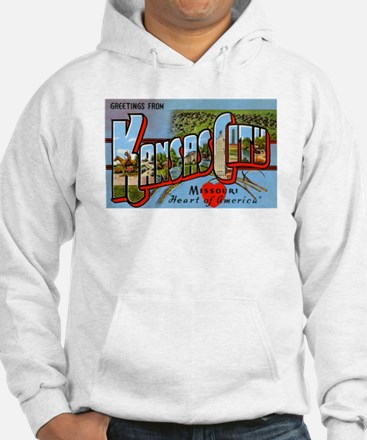 Kansas City Missouri Greetings (Front) Hoodie