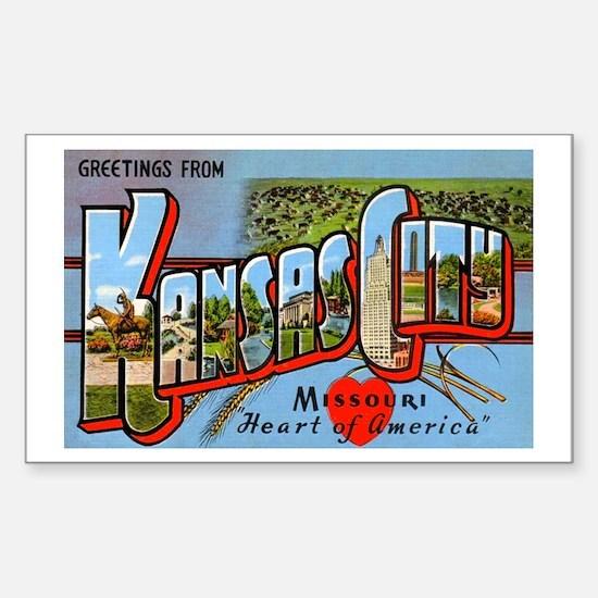 Kansas City Missouri Greetings Sticker (Rectangula