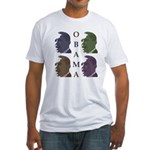Obama Faces in Color Fitted T-Shirt