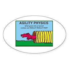 Agility Physics Oval Decal