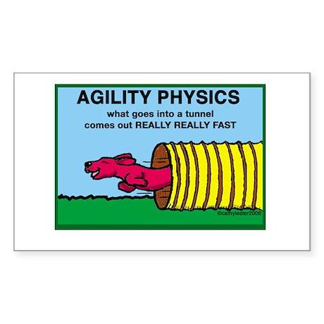 Agility Physics Rectangle Sticker