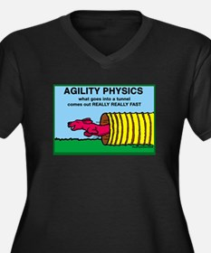 Agility Physics Women's Plus Size V-Neck Dark T-Sh