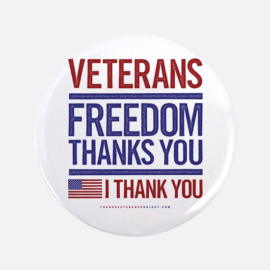 "Cute Veterans 3.5"" Button"