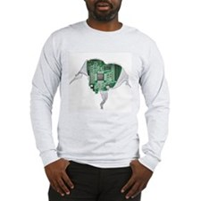 Motherboard Heart Long Sleeve T-Shirt