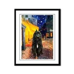Cafe & Bouvier Framed Panel Print