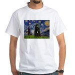 Starry Night Bouvier White T-Shirt