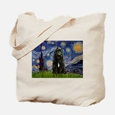 Starry Night Bouvier Tote Bag