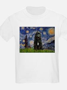 Starry Night Bouvier T-Shirt