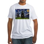 Starry Night Bouvier Fitted T-Shirt