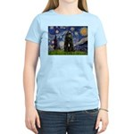 Starry Night Bouvier Women's Light T-Shirt