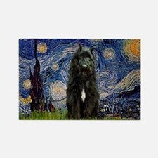 Starry Night Bouvier Rectangle Magnet (100 pack)