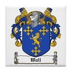 Wall Family Crest Tile Coaster