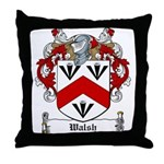 Walsh Family Crest Throw Pillow