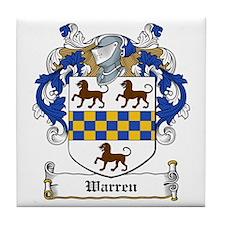 Warren Family Crest Tile Coaster