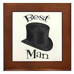 Top Hat Best Man Framed Tile