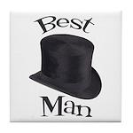 Top Hat Best Man Tile Coaster