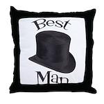 Top Hat Best Man Throw Pillow