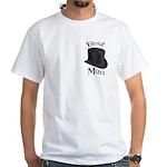 Top Hat Best Man White T-Shirt