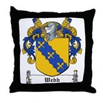 Webb Family Crest Throw Pillow