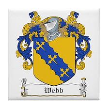 Webb Family Crest Tile Coaster
