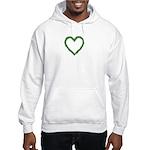 Shamrocks Heart Wreath Hooded Sweatshirt