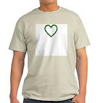 Shamrocks Heart Wreath Light T-Shirt