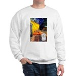Cafe with Coton de Tulear Sweatshirt