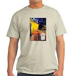 Cafe with Coton de Tulear Light T-Shirt