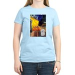 Cafe with Coton de Tulear Women's Light T-Shirt