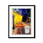 Cafe with Coton de Tulear Framed Panel Print